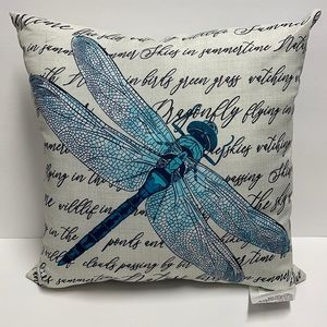 Dragonfly Pillow with Words and Sayings